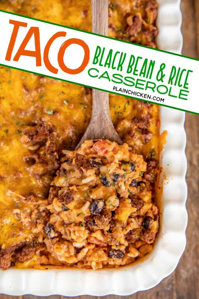 taco black bean and rice casserole