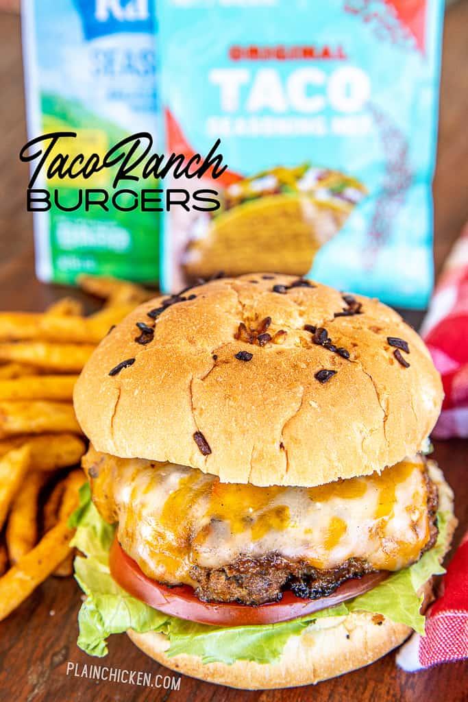 taco ranch burgers