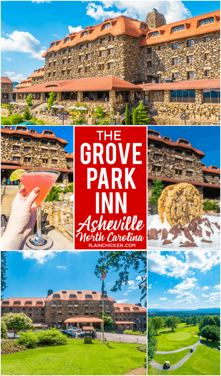 The Grove Park Inn Asheville, NC - the best place to stay in Asheville. A world class resort! The best views of the mountains! Great restaurants, drinks and golfing. I wish I could have stayed forever! #travel #asheville