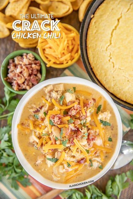 bowl of chicken chili