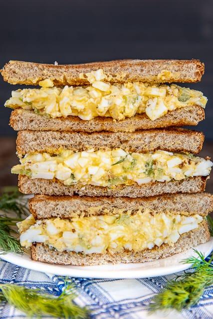 Tzatziki Egg Salad Sandwich