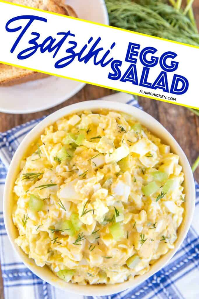 bowl of Tzatziki Egg Salad