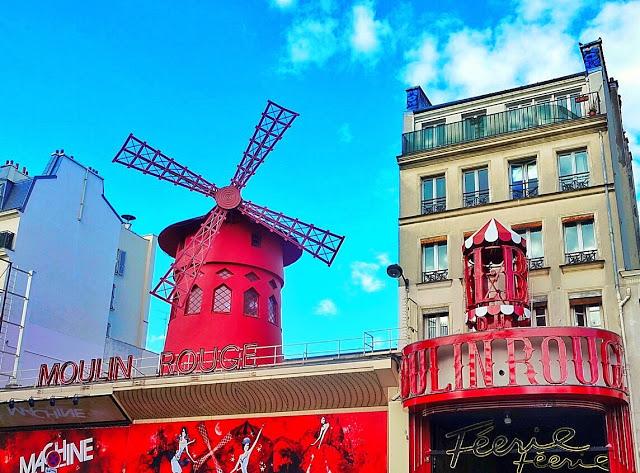 Moulin Rouge in Montmartre - Paris, France