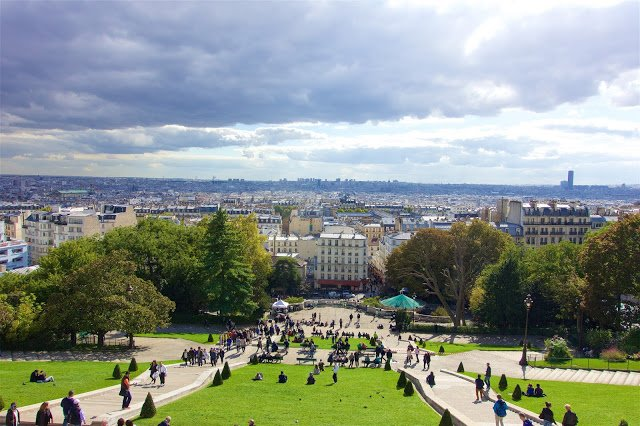 View of Paris from the Sacre-Coeur in Montmartre