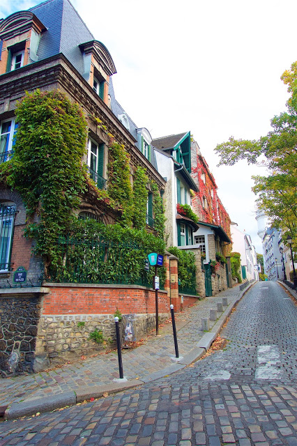 The streets of Montmartre in Paris