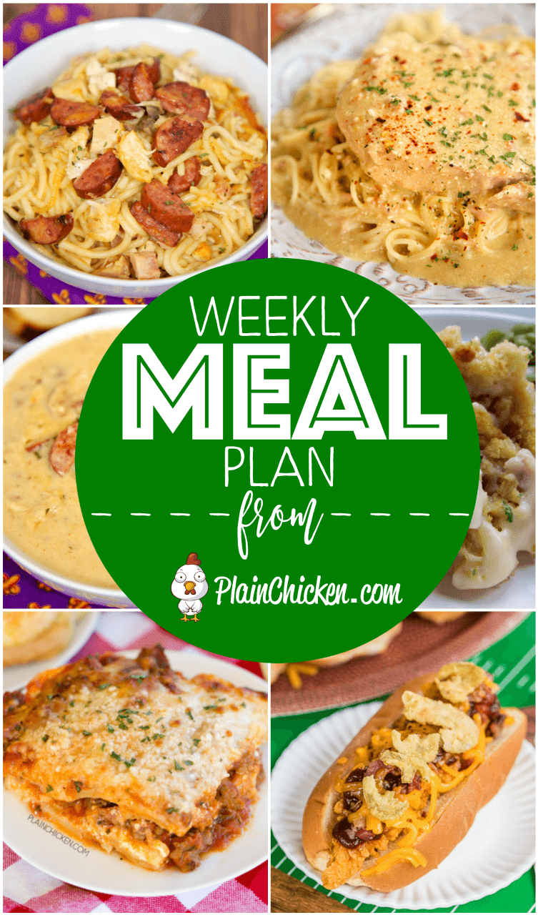 What's For Dinner? A quick and easy recipe for everyday of the week. Main dishes, side dishes and desserts! Something for everyone on this meal plan! #mealplan #dinner #easydinnerrecipes