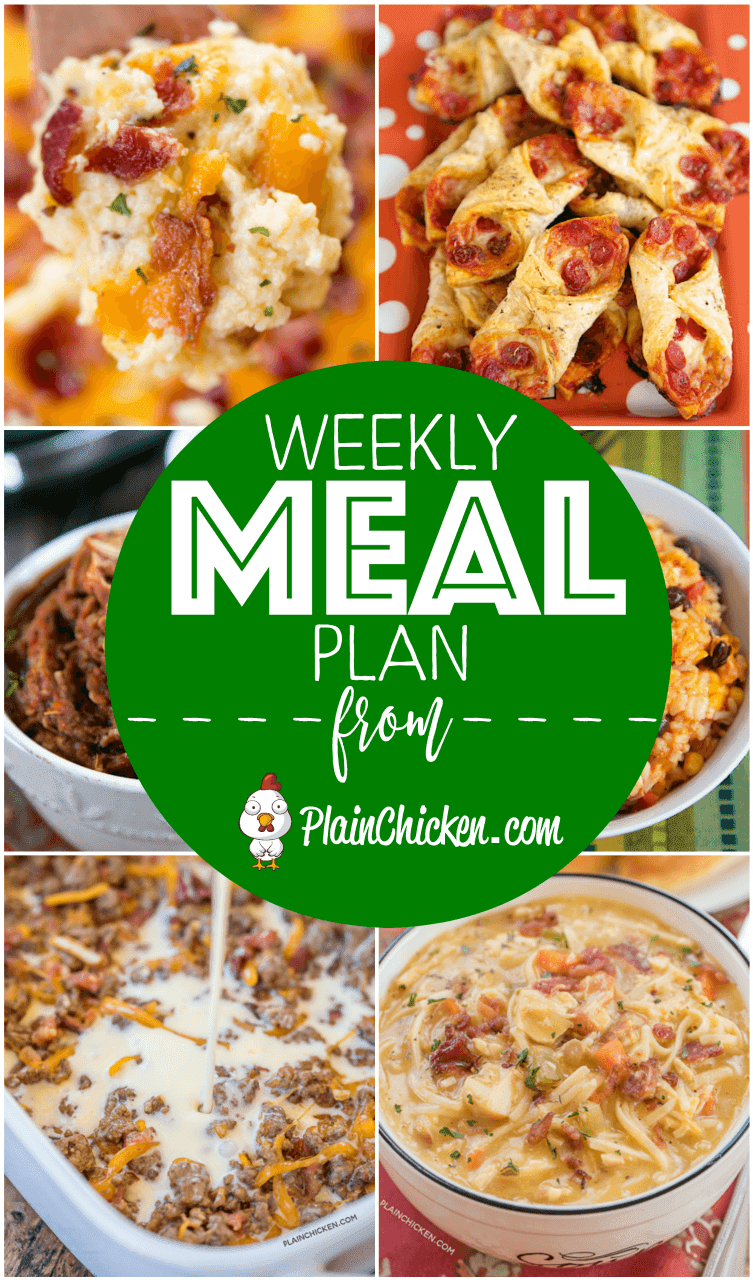 What's For Dinner - A quick and easy recipe for everyday of the week. Main dishes, side dishes and desserts! Something for everyone on this meal plan! #mealplan #dinner #dinnerrecipes