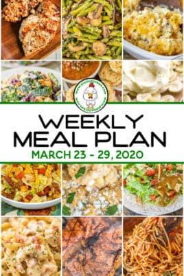 weekly meal plan 032320