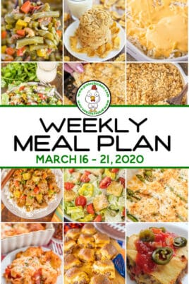 collage of meal plan dinner photos