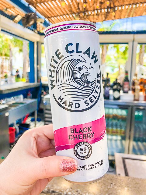 hard seltzer in a can