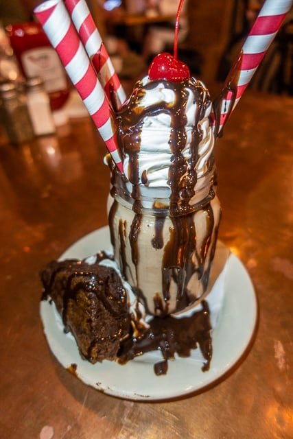 Brownie Milkshake - Prohibition Kitchen - St Augustine FL