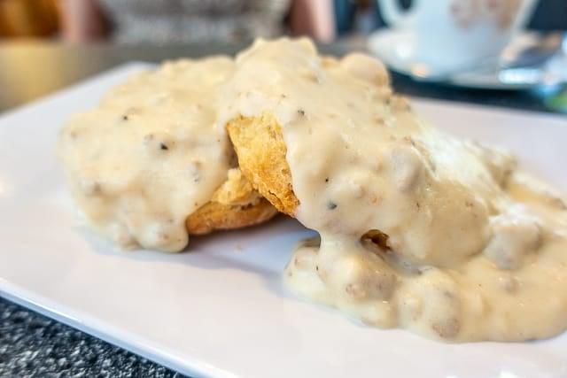 Biscuits & Gravy - Blue Hen Cafe - St Augustine FL