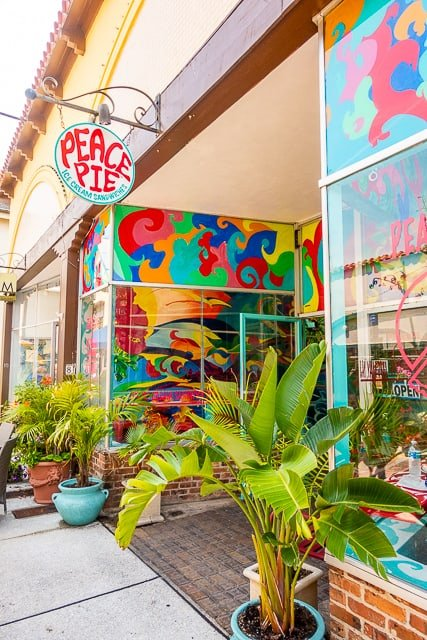 Outside Peace Pie - St Augustine FL