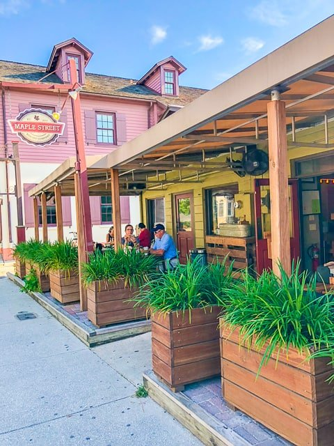 Outside Maple Street Biscuit Company - St. Augustine FL