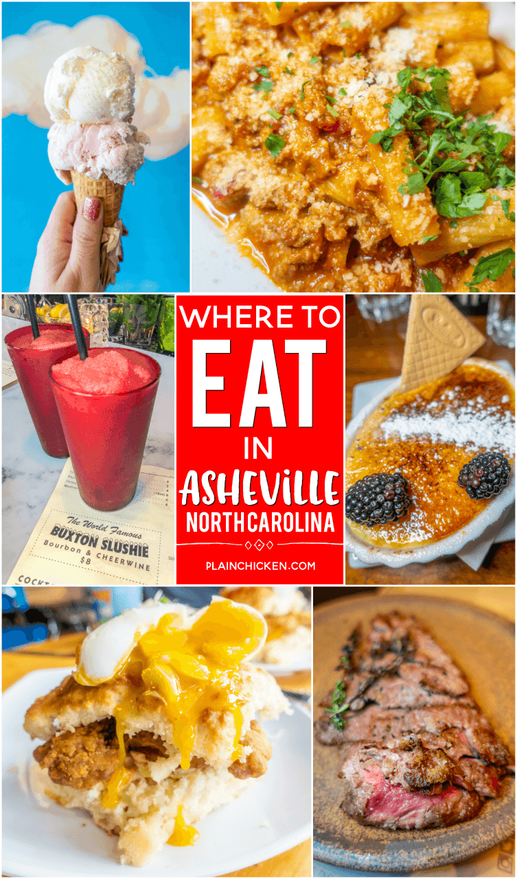 Where to Eat in Asheville, NC - BBQ, ice cream, Italian, Beer, Champagne, Spanish tapas, and breakfast! We checked out the top rated places on TripAdvisor and Yelp. We tell you what is worth going to and what to skip!