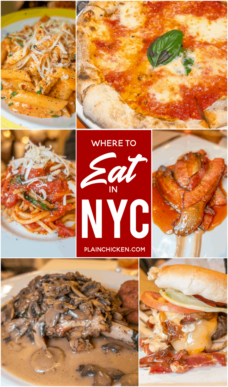 Where to Eat in New York City - our favorite places to eat in the city. The Burger Joint, Patsy's Italian Restaurant, Uncle Jacks, Eataly and Da Marino. Lots of hidden gems that you don't want to miss on your next trip to the city! #travel #NYC #newyorkcity
