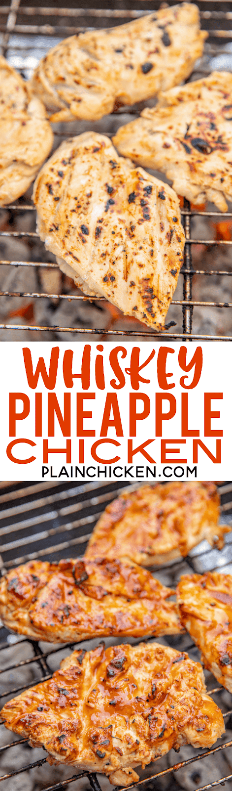 Whiskey Pineapple Chicken
