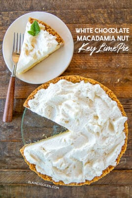 White Chocolate Macadamia Nut Key Lime Pie