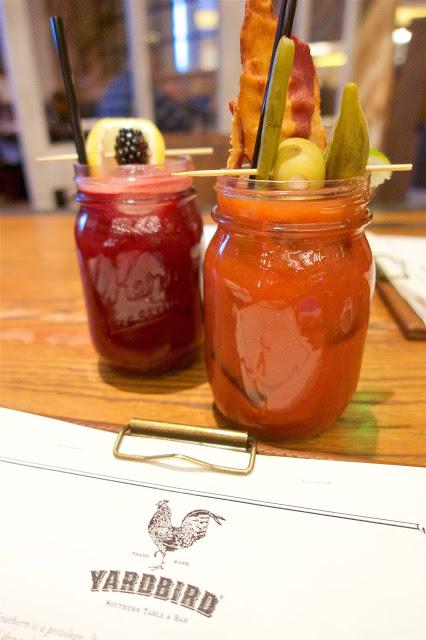 Yardbird Southern Table and Bar - Las Vegas - the Bloody Yardbird and the Blackberry Bourbon Lemonade