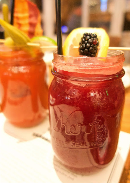 Yardbird Southern Table and Bar - Las Vegas - Blackberry Bourbon Lemonade. OMG! Fresh-Pressed Lemon Juice, Buffalo Trace Bourbon, Organic Blackberry & Cardamom topped with Sparkling Wine. I loved everything about this drink!