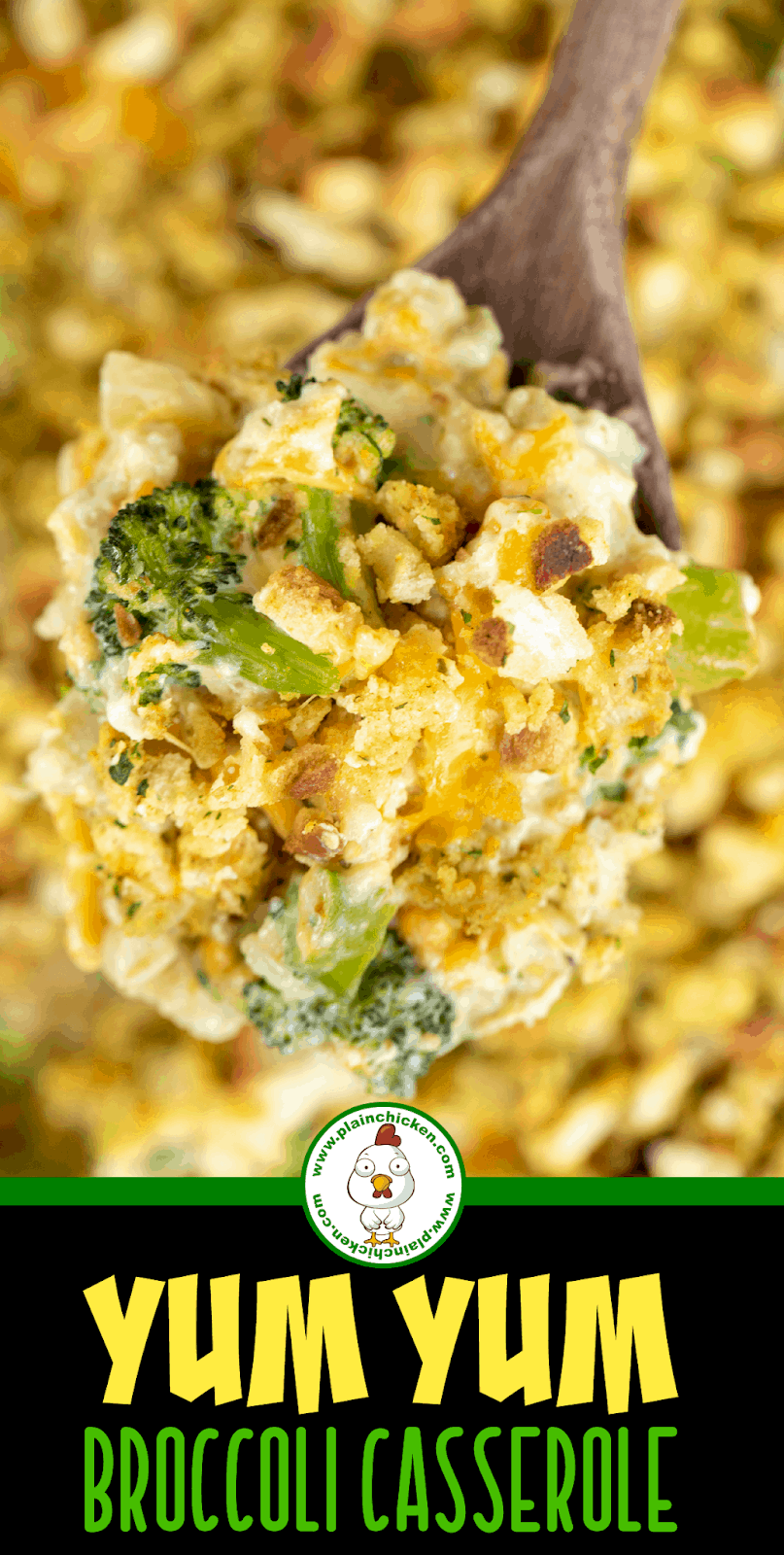 spoonful of broccoli casserole