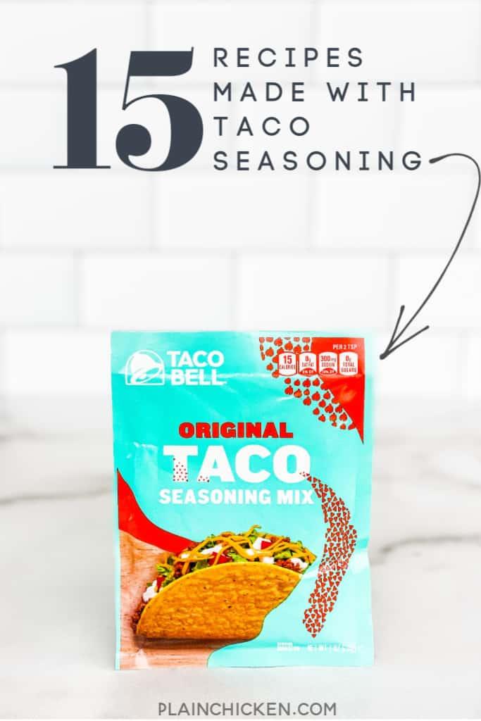 15 taco seasoning recipes