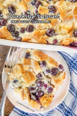 blueberry croissant breakfast bake