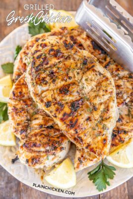 grilled greek chicken on a plate