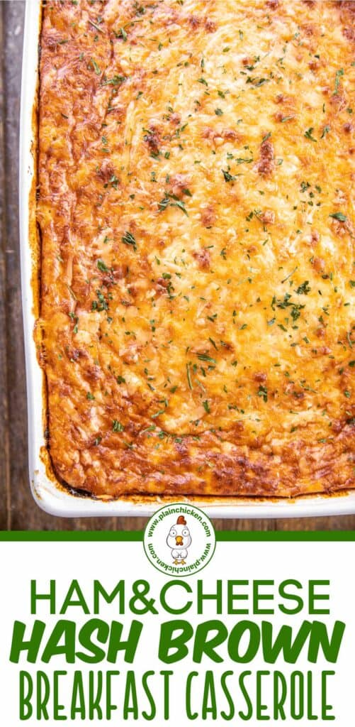 ham & cheese hash brown breakfast casserole