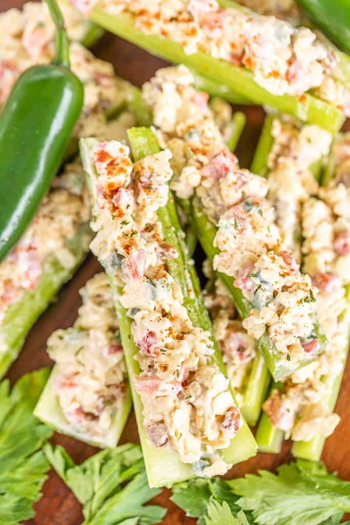 jalapeno cheddar pimento cheese stuffed celery