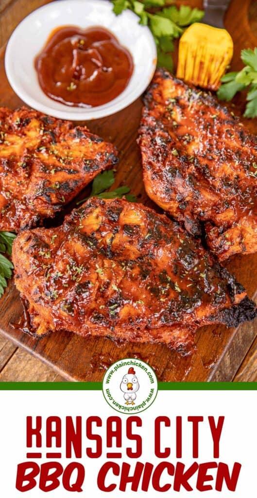 kansas city bbq grilled chicken collage