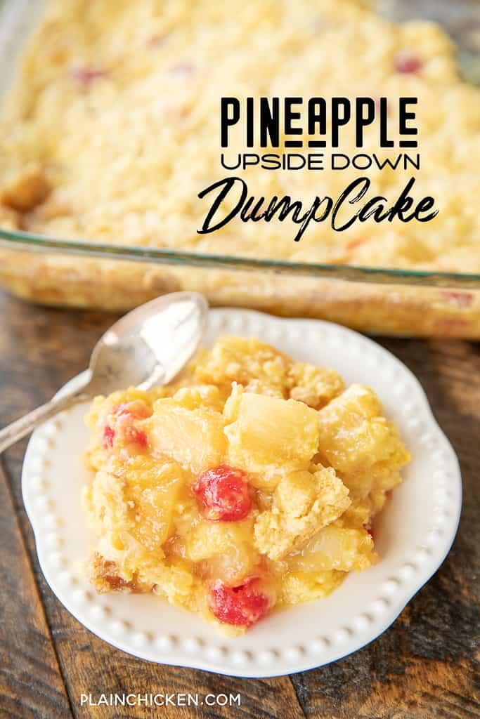 Pineapple Upside Down Dump Cake Plain Chicken