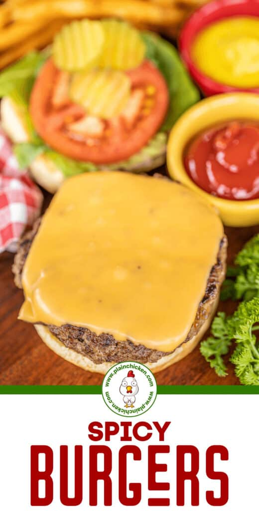 spicy burgers with cheese