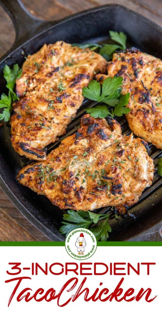 grilled chicken in a grill pan