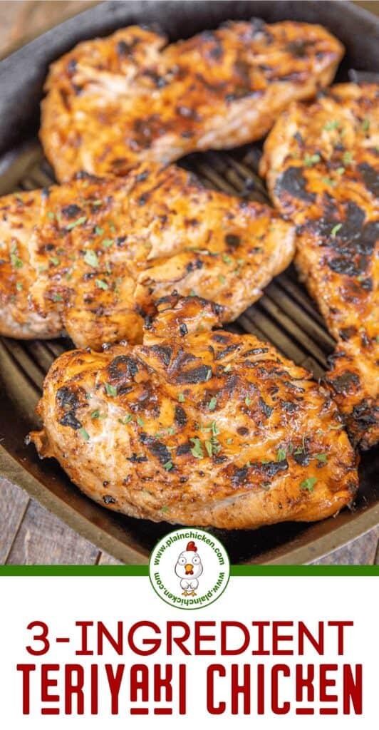 gegrillte Hähnchen in einem grill pan