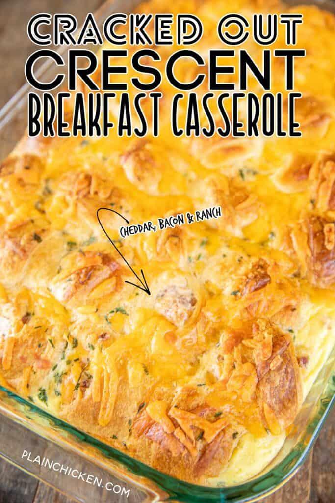 baked breakfast casserole in dish