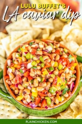 bowl of black eyed pea dip