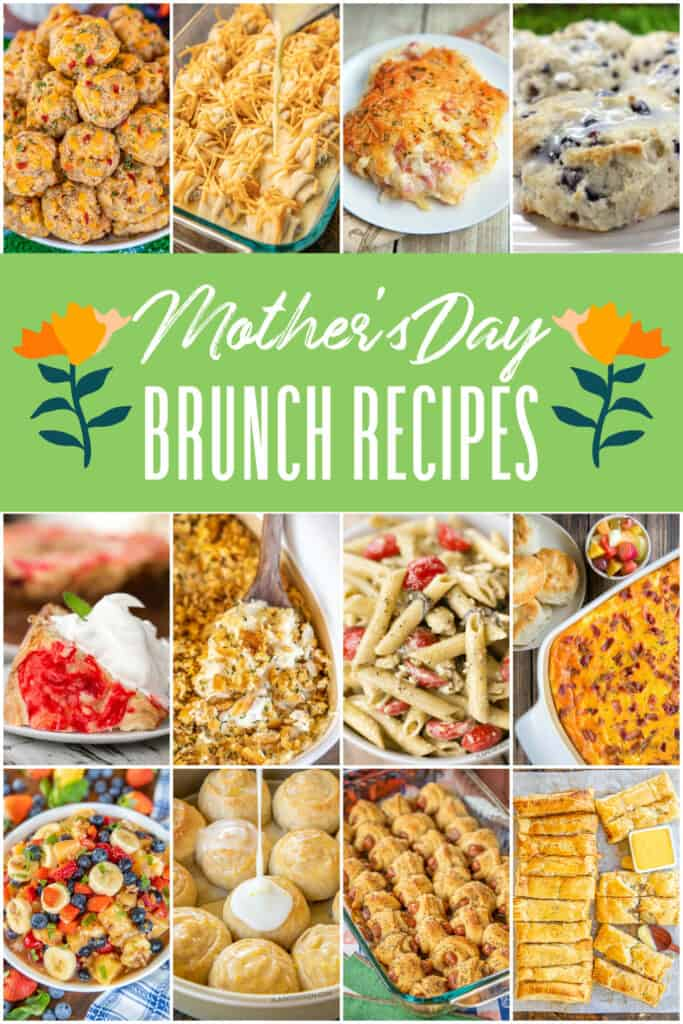 collage of 15 food photos for Mother's Day