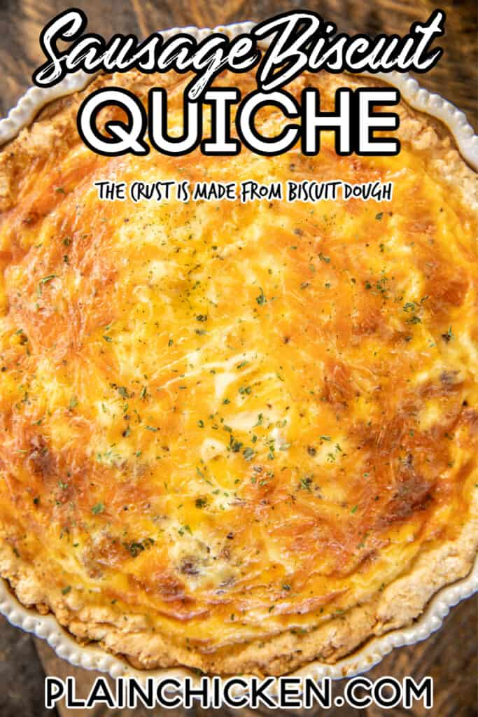 quiche in a baking pan