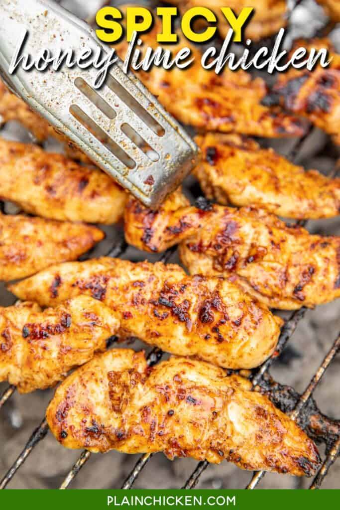 chicken cooking on the grill