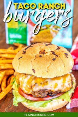 hamburger and fries on a platter