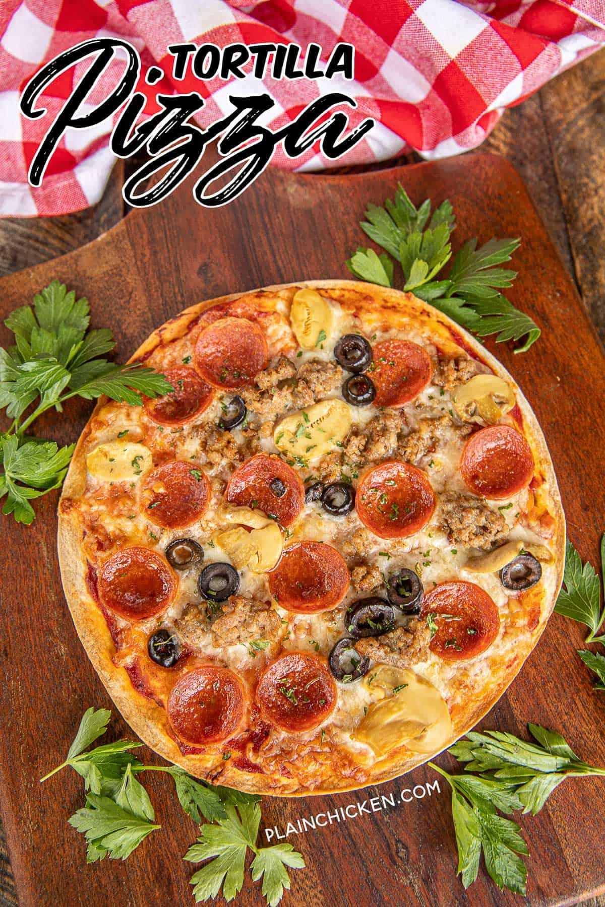Tortilla Pizza Cracker Pizza Plain Chicken