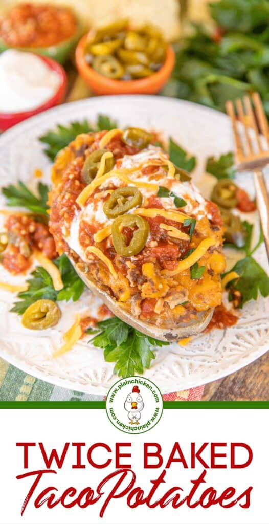 twice baked potato with sour cream and salsa