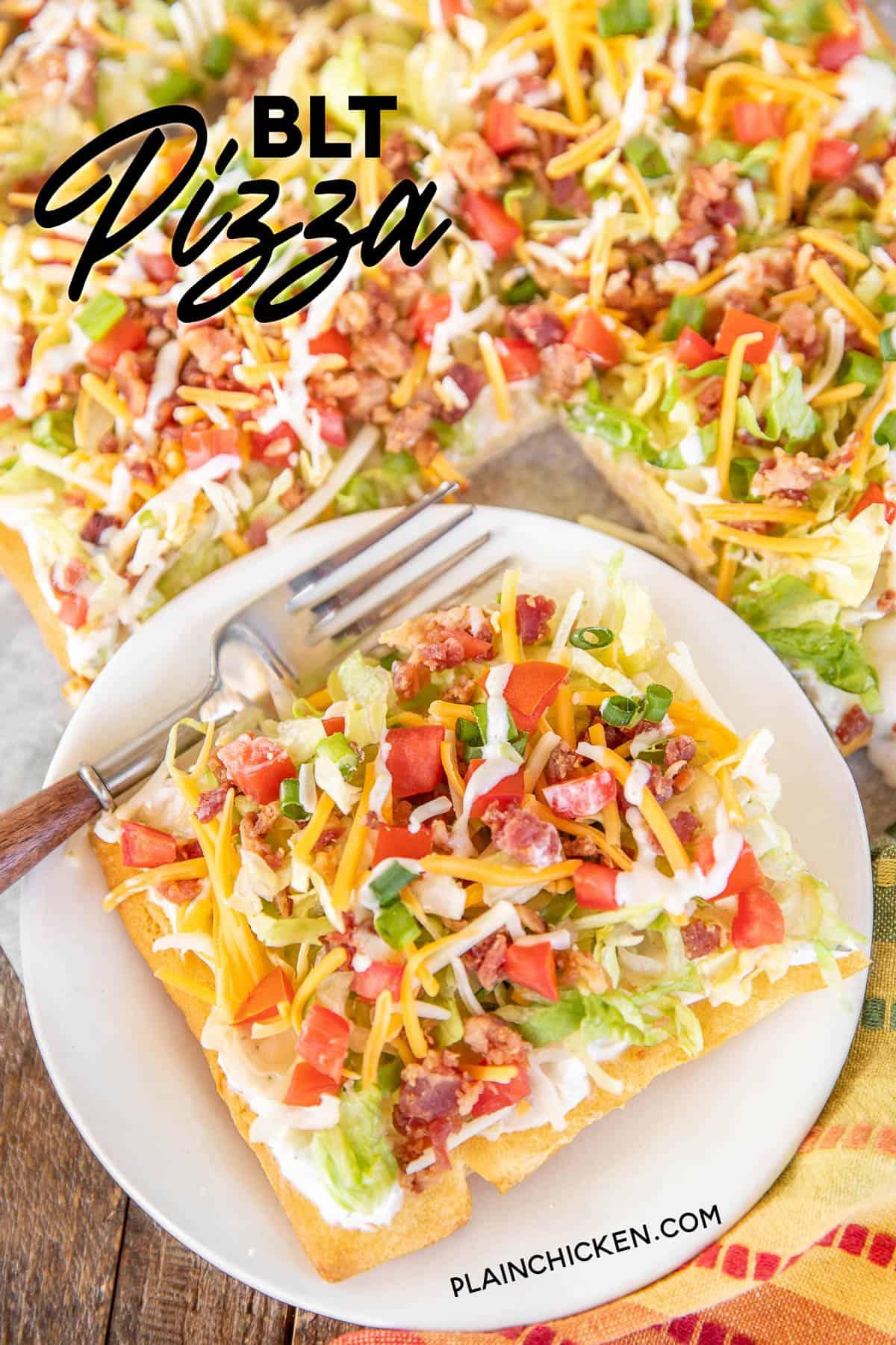 Easy Blt Pizza Plain Chicken