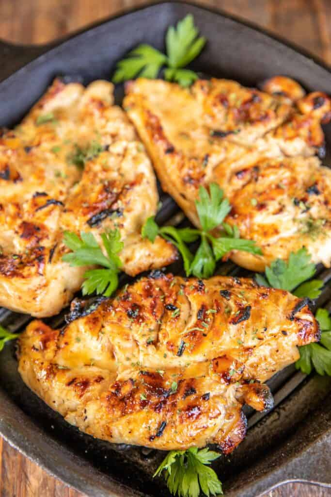 chicken in a grill pan