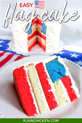 cake with american flag design inside