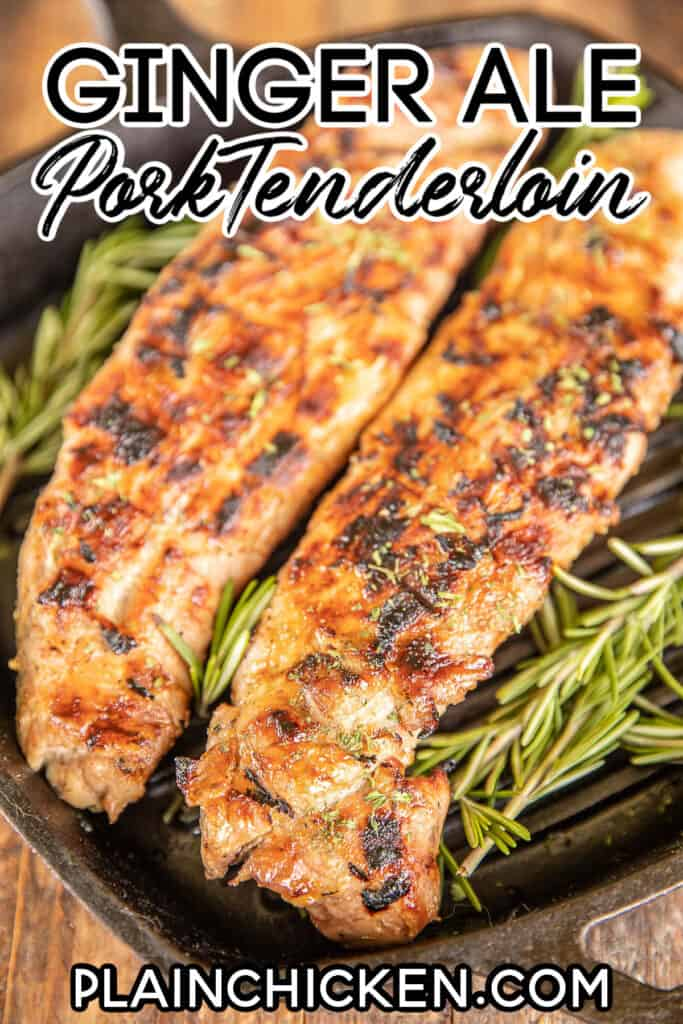 pork tenderloin in a grill pan
