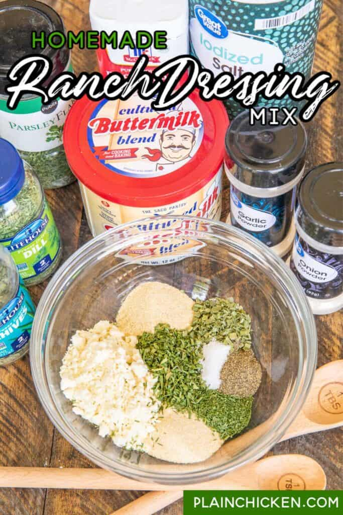 bowl of ranch dressing mix