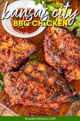 bbq chicken on a platter