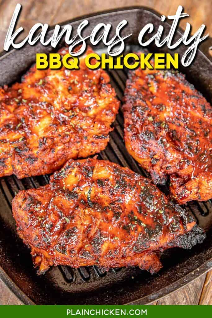 bbq chicken in a grill pan